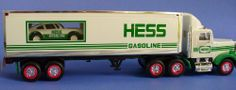 Hess Truck-18 Wheeler and Racer-1992 by Amerada Hess Corporation. $19.99. Real Head and Tail Lights. Racer with Friction Motor and Lights. Hess Truck 18 Wheeler and Racer -1992