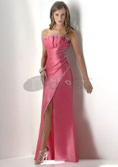Long Evening Dresses-Fascinating A-Line Strapless Floor-Length Long Evening Dresses