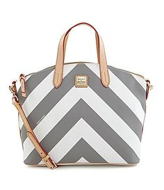Dooney and Bourke Chevron Large Gabriella Satchel #Dillards
