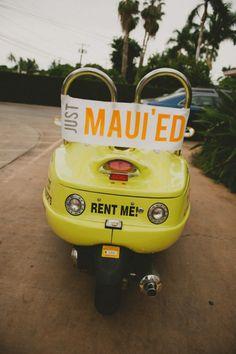 Funny Hawaiian Wedding Sign!