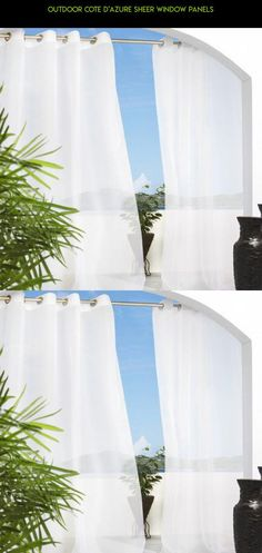 Outdoor Cote d'azure Sheer Window Panels #outdoor #decor #parts #gadgets #technology #products #drone #fpv #tech #curtains #camera #plans #outdoor #shopping #kit #racing