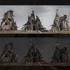 Saga of Odazio - Bandit Camp, Matthew Zikry on ArtStation at https://www.artstation.com/artwork/8ZvAw
