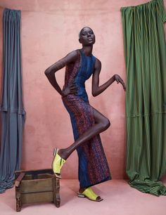 Ajak Deng and Maria Borges Star in Photoshoot Featuring African Designers12