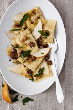 Colavita | Pear and Chestnut Ravioli with Fried Sage
