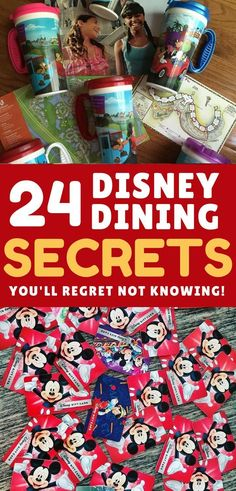 Don't leave for your Disney World vacation without checking out these Disney dining secrets that will save you time and money! #disneyworld