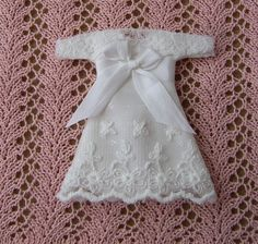 Dollhouse baby gown. Display only. See BUYMINIART on Etsy. SOLD