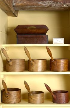 The Doug Towle Shaker Collection Catalog Wooden Ladle, Wooden Bowls, Wooden Kitchen, Vintage Kitchen, Wooden Containers, Shaker Furniture, Primitive Gatherings, Farmhouse Style Decorating, Shaker Style