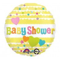 45cm Baby Shower Yellow with Hearts $9.95 (filled with Helium in store) U30748