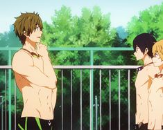 Only Makoto can stop Haru from diving into any body of water. I just love these dorks so much! :D Free!