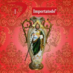 Jarrón de Poliresina San Judas Tadeo marca TRENTINO. Modelo 41-063