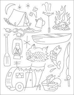Camp Out Embroidery patterns.... vintage camper @Lisa Phillips-Barton Phillips-Barton Phillips-Barton Phillips-Barton Krieger
