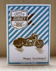 Stamp With Paper Panda: Masculine Monday with Stampin' Up! One Wild Ride