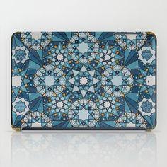 blue geometry  iPad Case