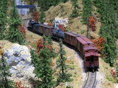 Cascade Mining freight snakes up grade