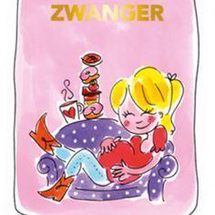 Blond Amsterdam thee kaart zwanger (roze)