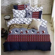 Bavlněné francouzské povlečení Americano Comforters, Blanket, Bed, Home, Creature Comforts, Quilts, Stream Bed, Ad Home, Blankets