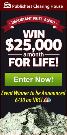 when is the next publishers clearing house giveaway 2019