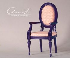 """Rocking Chair for BJD Ivory 26/""""  high model doll chair SD size 1//3 BJD"""