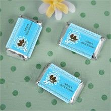 Twin Boy Baby Carriages - 20 Mini Candy Bar Wrapper Sticker Labels Baby Shower Favors