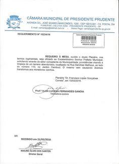 Profª Alba Lucena: Requerimento: Limpeza de Terreno no Jardim Cambuci...