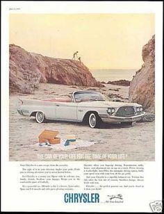 Chrysler New Yorker Convertible Car Beach (1960)