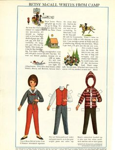 Vintage July 1964 Magazine Paper Doll of Betsy McCall Writes From Camp