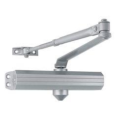 Commercial Door Closer FH-8400 Heavy Duty Adjustable Grade 1 Standard Automatic Door Closing Hinge Silver Aluminium Finish ADA Compliant UL /& CUL UL10C Listed High Traffic