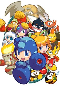 Promo Art for Mega Man Powered Up