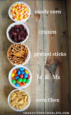 Thanksgiving snack - Mayflower Munch Mix.An easy Thanksgiving snack mix!