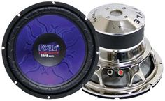 """Pyle PL1290BL 12-Inch 1200 Watt DVC Subwoofer by Pyle. $40.00. Pyle's Blue Wave series speakers don't just sound great – they look great, too. Feast your eyes upon the azure curves of Pyle's Blue Wave series and you'll agree. The PL1290BL is a 12"""" booming 1200 watt subwoofer designed with the bass lover in mind. This subwoofer will make your music growl in your vehicle or at home, in any type of enclosure: sealed, vented, or open-air. The blue injected molded c..."""