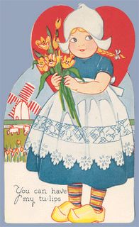 Vintage Valentine Museum: Wooden Shoe Be Mine? Dutch Themes