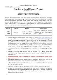 Job Circular For Bangladesh: Primary School Teacher Job Circular 2017