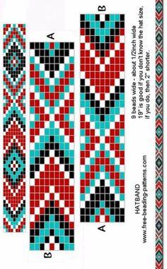 DIY gift idea BL0292 Bead loom pattern Squared weaving bead loom bracelet pattern