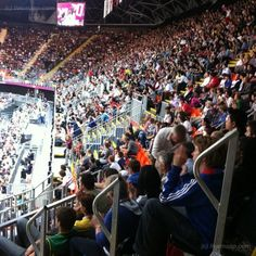 Aha - a packed Olympic Stadium to watch the Basketball - great entertainment for livemapper @richardcb who saw France beat Argentina on Tuesday 31st July
