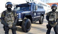 Police of Hamburg, Germany, presents their new armoured car for high-risk scenarios. Built by Achleitner (AUS)/ Rheinmetall (GER).