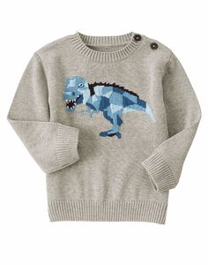 Gymboree Boys 6-12M Heather Grey Arctic Dino Pull-Over Sweater NWT   #Gymboree #Pullover #DressyEveryday