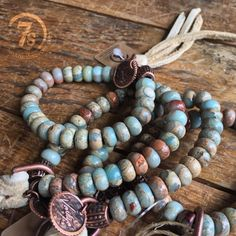 Piles of jasper copper and ivory elk leather round here with the Kinnley Bracelet  #love #stackem #jewelry #savannah7s #style