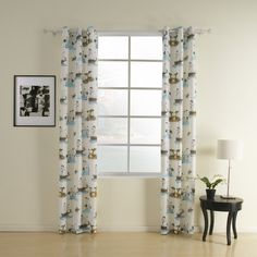 Nautical Blue Contemporary Kids Window Curtains (Two Panels) - GBP £ Cheap Curtains, Kids Curtains, Drapes Curtains, Contemporary Windows, Modern Kids, Nautical, Kids Room, Blue, Sailing