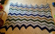 Ravelry: Project Gallery for Chevron Colour-Block Blanket pattern by Espace Tricot