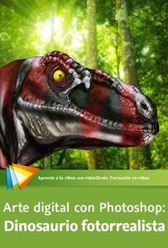 Creación de dinosaurio fotorrealista con Photoshop