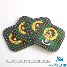 MacAlpine Clan Crest Coaster Set