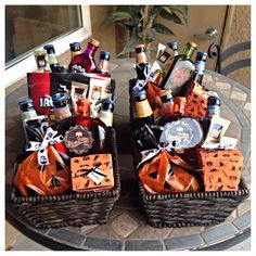 halloween baskets i made for the guys samual adams jim bean in poison