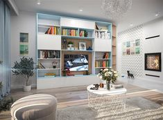 Projekt domu Tryton teriva 98,96 m2 - koszt budowy 207 tys. zł - EXTRADOM Construction Cost, Design Case, House Plans, Bookcase, House Design, Shelves, Home Decor, Houses, Plants