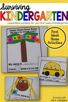 Are you new to kindergarten? Feeling uneasy about the first day? Let me help you make the most of your first few days of kindergarten. This product has everything you need to create a positive classroom environment, introduce rules and procedures, and hav Welcome To Kindergarten, Beginning Of Kindergarten, Welcome To School, Beginning Of School, Kindergarten Calendar, Kindergarten Graduation, First Day Of School Activities, 1st Day Of School, Montessori Sensorial