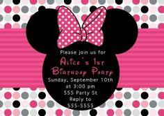 Minnie Mouse Birthday Party Invitations Idea