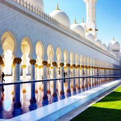 The Sheikh ZayedGrand Mosque Abu Dhabi by Christel Gellidon