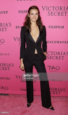 Model Monika 'Jac' Jagaciak attends the 2015 Victoria's Secret Fashion Show after party at TAO Downtown on November 10, 2015 in New York City.