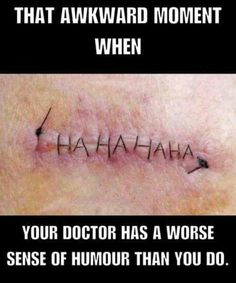 Hhmmm .... I'd better look at my scar more closely ....