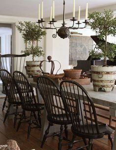 19 Fancy Farmhouse Dining Room Design Ideas - Home Design - lmolnar - Best Design and Decoration You Need Country Dining Rooms, Country Style Kitchen, Farmhouse Dining, Farm House Living Room, Dining Room Design, Country Decor, French Country Dining Room, Rustic House, French Country Kitchens