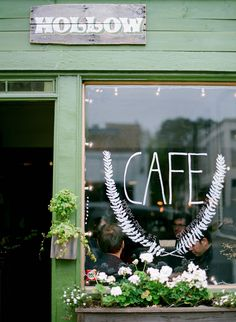 This is my favorite neighborhood cafe!!! Just around the block from us! Hollow Cafe | San Francisco